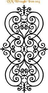 wrought iron stencil - Google Search