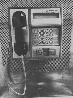 grey aesthetic Vintage payphone black and white by TeaGraphicDesign on creativemarket Black And White Picture Wall, Black And White Posters, Black And White Wallpaper, Black And White Pictures, Black N White, Gray Aesthetic, Black Aesthetic Wallpaper, Black And White Aesthetic, Aesthetic Vintage