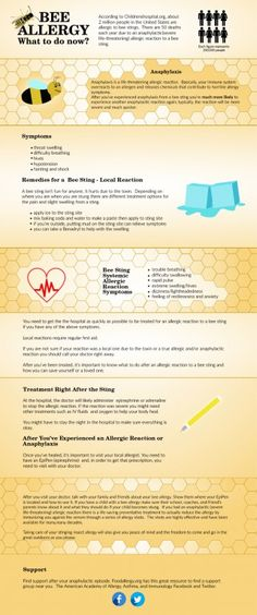 What to do after an allergic reaction to a bee sting #allergies #beesting