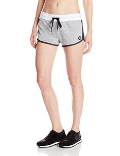 Hurley Juniors Nike Dri-Fit 2.5 Inch Fleece Short, Heather White, Large