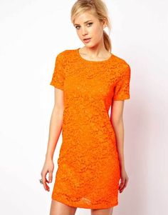 Sparkle Shift Dress in Lace - Lyst
