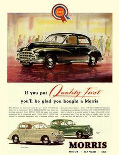 1951 Morris Minor, Oxford, Six, Morris Minor, Retro Cars, Vintage Cars, Antique Cars, Classic Cars British, British Car, Morris Oxford, Car Websites, Car Brochure