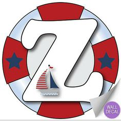 Wall Letters z Nautical Ocean Sailing Custom Letter Children's Nursery Baby's Room Baby Name Boys Bedroom Decor Alphabet Initial Vinyl Stickers Decals Kids Decorations Decal Boat Whale Anchor Girls Boys Bedroom Decor, Boy Decor, Kids Decor, Sailor Birthday, Fancy Letters, Monogram Alphabet, Kids Stickers, Sea Theme, Letter Wall