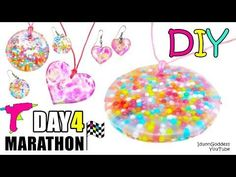 DIY Jewelry Out Of Hot Glue, Sprinkles And Acrylic Paint - DAY 4 of 7-Day Marathon Of Glue Gun DIYs - YouTube