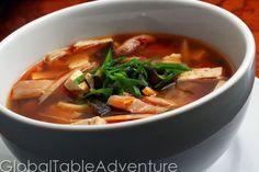 Serves 4 Hot and sour soup is great to chase away the sniffles. Perfect soup for a chilly fall evening. Ingredients: 1 cup rehydrated, sliced wood ear mushrooms 1 quart chicken stock 1 tsp minced g...
