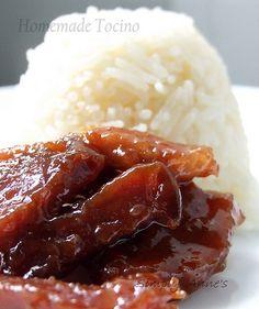 Pork Tocino 1 kilo pork shoulder cut into thin strips* 325 ml pineapple juice 1/3 cup light soy sauce* 2 cups brown sugar 2 tbsp salt 1 tsp black pepper 1 tbsp garlic, minced 1/2 cup ketchup 1/2 cup sprite