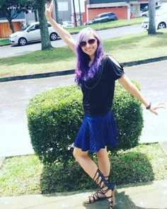 I love blue hair, but purple rules too!!