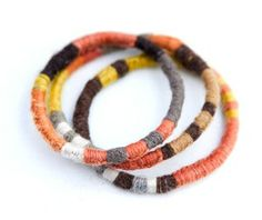 natural dyed yarn for wrapping bangles