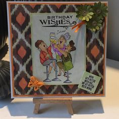 Art Impressions Rubber Stamps: Wine Divas: Ai Girlfriends...Michael's clear set. Handmade card.