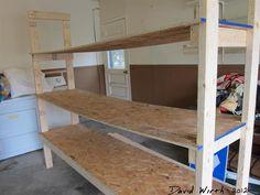prefitting the shelf boards, wobbly shelf i made