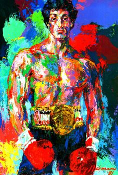 "Leroy nieman   ""Rocky"" 1981"