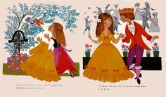 Vintage Fairy Tale Childrens Illustrations by Felicitas Kuhn