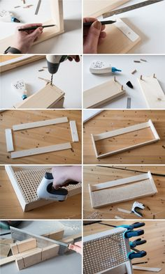 DIY wooden magazine holder with Viennese braid - craftifair - Pipe weave particularly sustainable. It is also extremely light but extremely stable. Sounds like t -