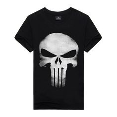 Scary Shoot Skull Tee #WomenTops #black #skull #tee #halloween #scary #terror