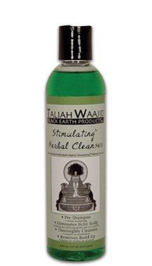 Taliah Waajid Stimulating Herbal Cleanser 8oz. by Black Earth. $11.03. Eliminates Itchy Scalp. Pre-Shampoo. Thoroughly Cleanses. Removes Build Up. Stimulating Herbal Cleanser   Use before shampooing. When you use this product you must follow up by using  Total Body Black Earth Shampoo.  Directions: Use to thoroughly cleanse residue such as product build up and dirt build  up from hair, locks, twists, and braids. Completely wet the hair down to the roots.  Pour a liberal...