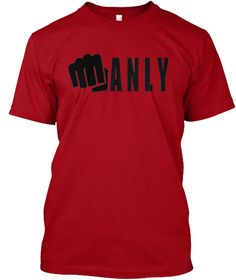 Manly Deep Red T-Shirt Front