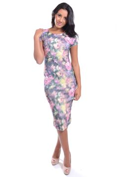 Red Label   3D floral mesh bodycon dress, £9.99 #bodycon #ootd #fashion