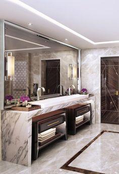 Best Luxury Bathroom Lighting Design - Home Design Bathroom Lighting Design, Bathroom Design Luxury, Luxury Bathrooms, Luxury Hotel Bathroom, Modern Luxury Bathroom, Modern Bathrooms, Dream Bathrooms, Large Bathroom Design, Elegant Bathroom Decor