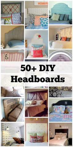 Remodelaholic | 50+ DIY Handmade Headboards + Link Party