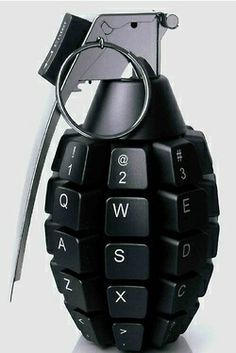 Keyboard grenade!