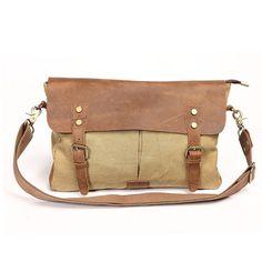 Women's handbag vintage fashion canvas bag fashion messenger bag large bag on Etsy, $65.00