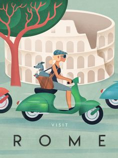 Vintage Travel - Wall Art Poster - Italy - Rome - Retro - Trend Design Home App 2019 Poster Art, Kunst Poster, Art Posters, Vintage Girls, Retro Vintage, Retro Art, Vintage Hawaii, Vintage Kitchen, Kitchen Retro