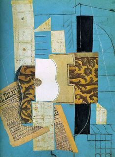 In a new trend in art was born - synthetic cubism, the main representatives of which are Georges Braque and Pablo Picasso. Picasso Collage, Picasso Paintings, Georges Braque, Synthetic Cubism, Picasso And Braque, Abstract Art Images, Collage Artists, Collages, A Level Art