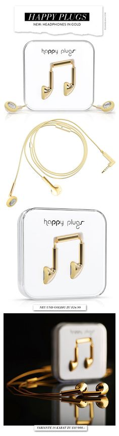 ~NEW – Happy Plugs Headphones in Gold | The House of Beccaria