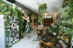 Summer Rayne Oakes' Williamsburg loft is bursting with more than 500 plants