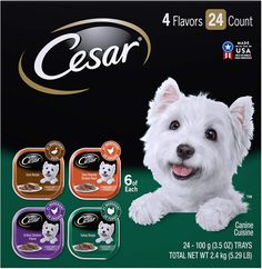 Cesar Soft Wet Dog Food Classic Loaf in Sauce Poultry Variety Pack, Oz. Easy Peel Trays With Real Chicken, Turkey or Duck – Cat An Dog Deals Canned Dog Food, Wet Dog Food, Cat Food, Puppy Food, Food Trays, Cute Cat Breeds, Chicken Flavors, Small Breed, Small Dogs