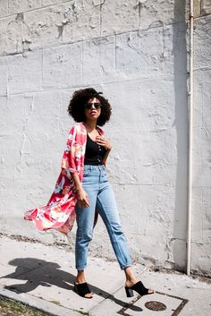 style me grasie : kimono forever 21 topshop jeans nine west sandals elizabeth and james cotton on tank  bodysuit swimsuit festival wear colorful prints ootd blogger lifestyle  spring look chic red japanese style