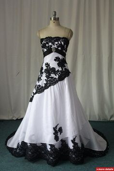 white black lace wedding dress- like the colored lace overlay