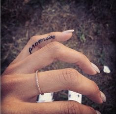 See more Cute promise tattoo on finger