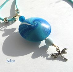 Blue and Turquoise Dragonfly Pendant  £8.95