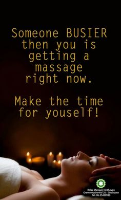 Someone busier than you is getting a massage right now. Make time for yourself! Massage Logo, Massage Quotes, Reflexology Massage, Massage Tips, Spa Massage, Sauna Benefits, Massage Benefits, Spa Therapy, Massage Therapy