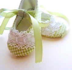 Vichy vert magnifique Pixie orteils chaussures de par cottagecloset