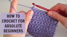 Today I'm showing you how to crochet for absolute beginners. A detailed step-by-step tutorial on how to crochet a chain and a single crochet, as well as make...
