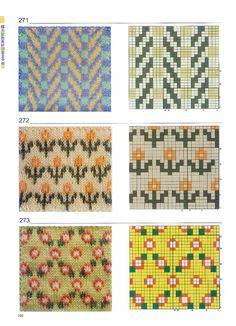 超级配色花样图案300例 - 壹一 - 壹一的博客 Cross Stitch Borders, Cross Stitch Charts, Cross Stitch Patterns, Knitting Charts, Knitting Socks, Knitting Patterns, Diy Crochet Granny Square, Pixel Pattern, Vintage Knitting
