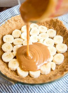 Banana Caramel Pie 2 premade pie crusts 4 bananas cut 2 cans sweetened condensed milk Boil cans without labels 3 hours. Cut bananas and put in crust. Pour caramel over top and use second crust to top the pie