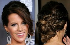 Kate Beckinsale updo