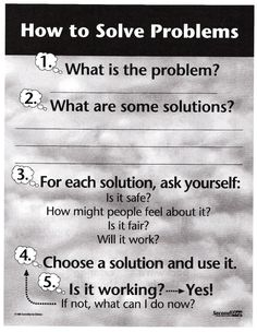 Problem Solving Poster for Kids - Second Step Curriculum ~ Socio-Emotional Psycho-Education
