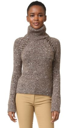 I'd like the length to be a tiny bit longer but love this sweater. Veronica Beard Indie Mock Neck Sweater