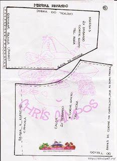Boneca de pano Menina Orando com Molde para imprimir - Como Fazer Map, Dolls, Blog, Rolling Sleeves, Crochet Decoration, Diy Home, Diy Creative Ideas, Digi Stamps, Lol Dolls