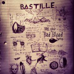 Bastille Lyric Collage made by @IS△BEL