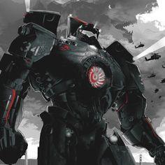 Kaiju in background