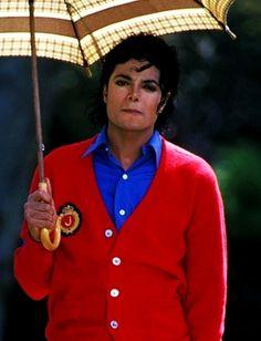 Michael Jackson walking in the rain
