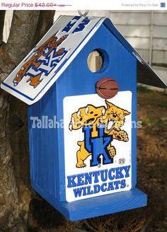 40% Off Today...Kentucky birdhouse,Wildcat birdhouse,Kentucky Wildcat,Kentucky Football,Wildcat Football,Kentucky fan,Kentucky basketball,Wildcat basketball