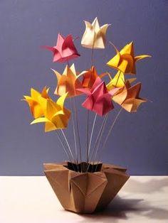 bodas de papel | arranjo de flores todo em origami