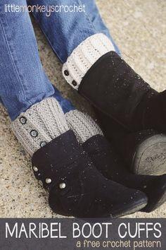 Maribel Boot Cuffs   free crochet pattern by Little Monkeys Crochet
