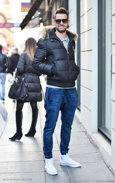 Zagreb street style, guys casual winter fashion, Josip Tadić, photo by PEOPLEANDSTYLES.COM